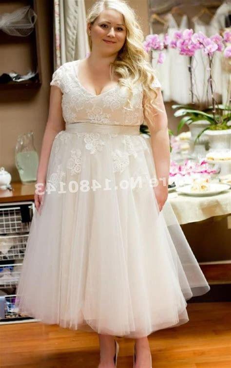 Plus size wedding dress tea length   PlusLook.eu Collection