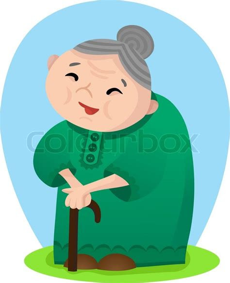 cartoon smiling grandmother stock vector