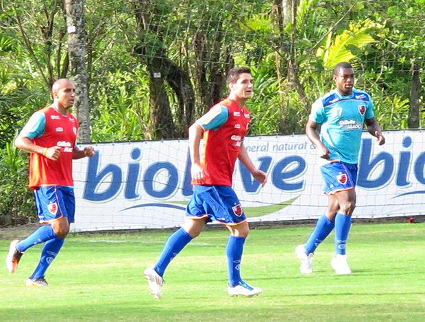 Thiago Neves Deivid treino Flamengo (Foto: Richard Souza / Globoesporte.com)