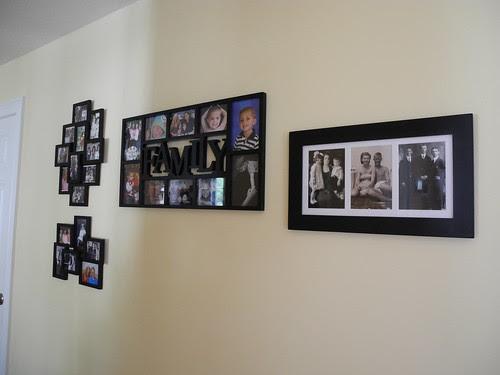 Wall Collages in Hallway by midgefrazel