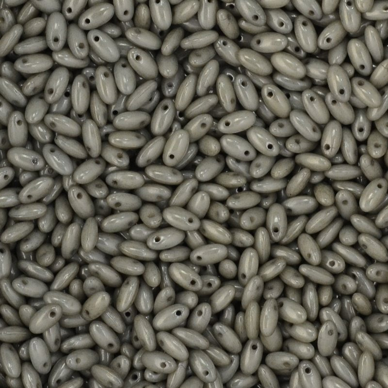 s45042 Czech Seedbeads -  Rizos - Grey Lustre