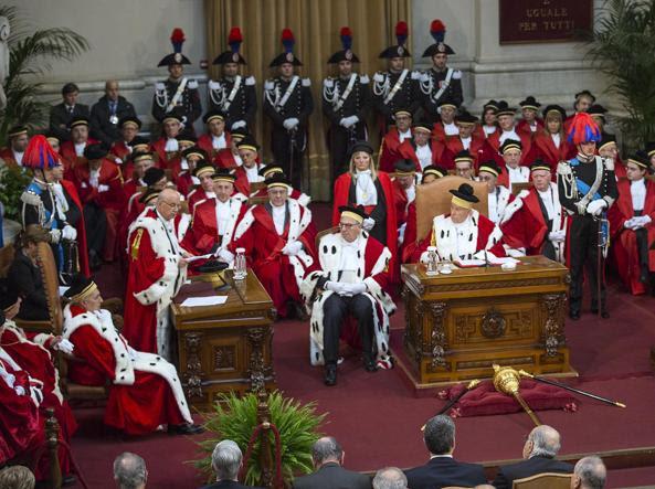 Inaugurazione dell'anno giudiziario in Cassazione (LaPresse)