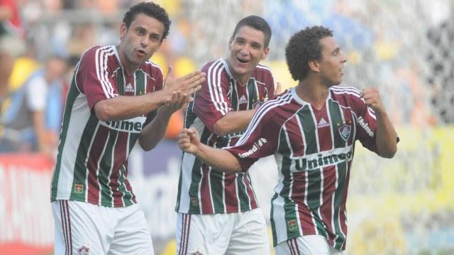 Fred, Thiago Neves e Wellington Nem comemoram: Fluminense campeão da Taça Guanabara