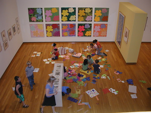 making a mess at the museum.