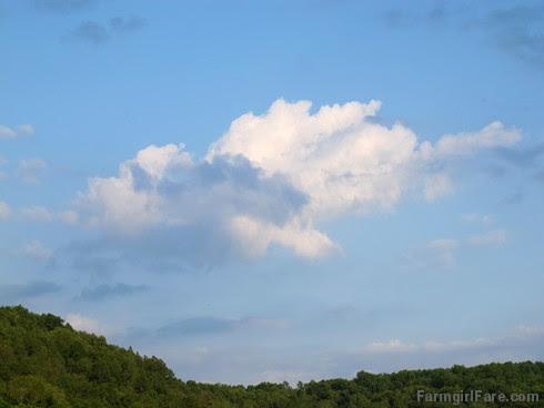 (27) Peaceful clouds in Donkeyland - FarmgirlFare.com