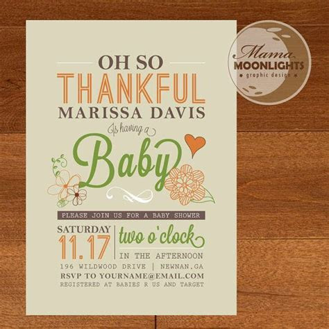 25  best ideas about Thanksgiving Baby Showers on