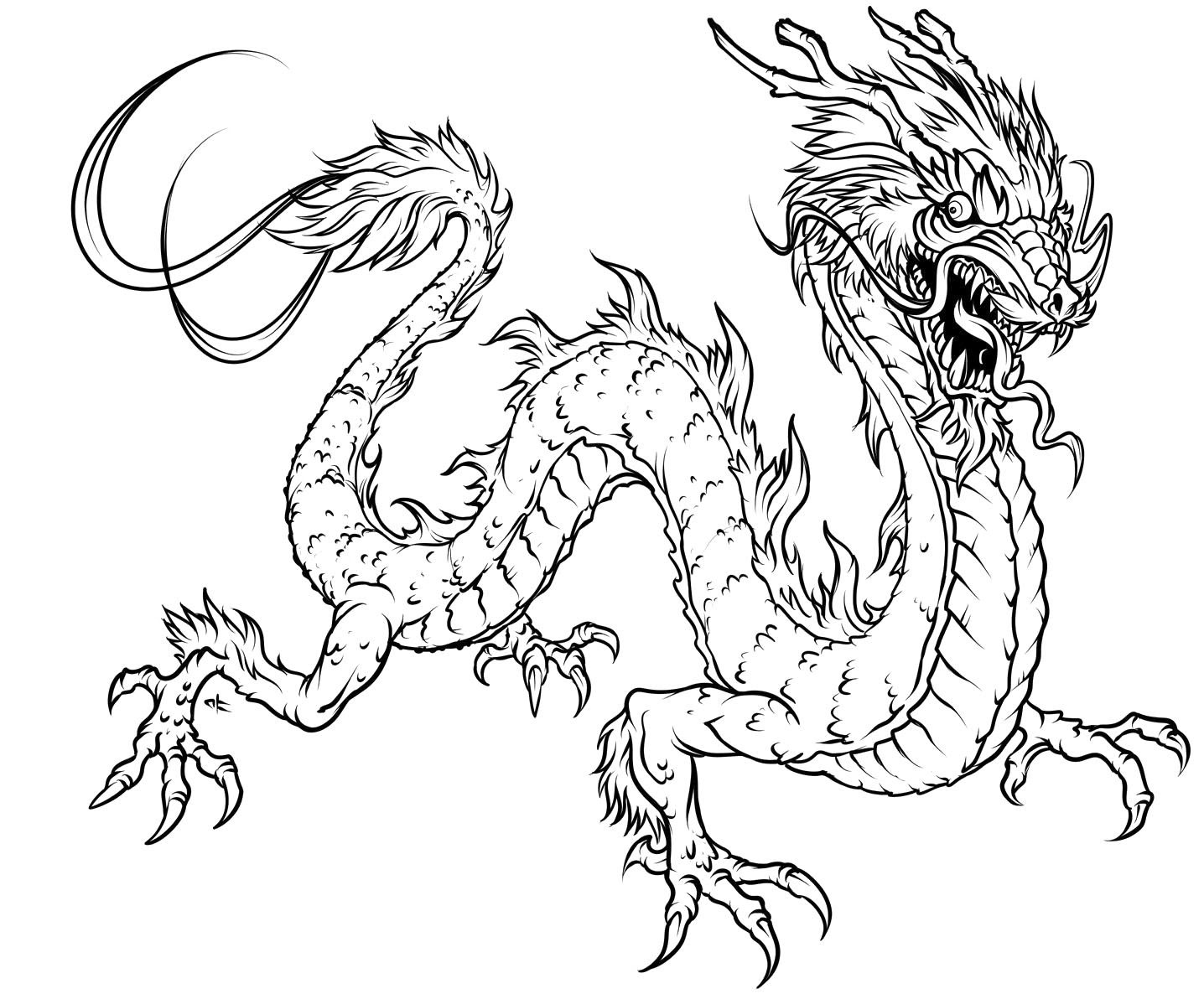 Detailed Dragon Coloring Pages - Coloring Home