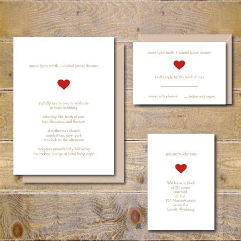 Simple Wedding Invitations, Rustic Wedding Invitations