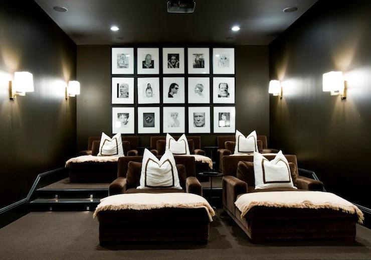 Photo Walls - Contemporary - media room - Melanie Turner Interiors