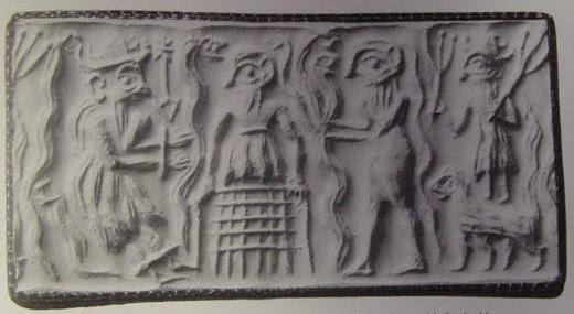 http://www.mesopotamiangods.com/wp-content/uploads/2014/08/2a-Dumuzi-the-Shepherd-Adam-Eve1.jpg