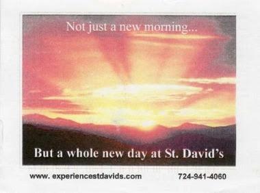 St. David's postcard, front