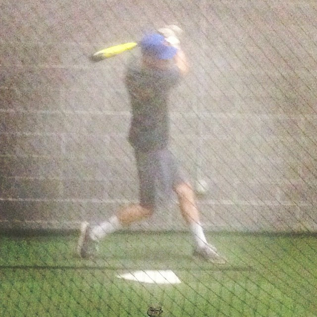 In the cage #WalbeckBaseballAcademy