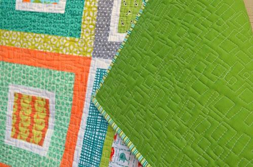 modern i-spy baby quilt