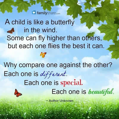 Beautiful Lines A Child Is Like A Butterfly In The Wind Daily