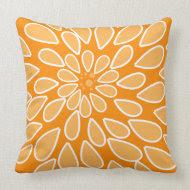 Orange Mum Pillow throwpillow