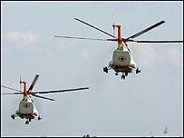 Helicópteros de la Cruz Roja