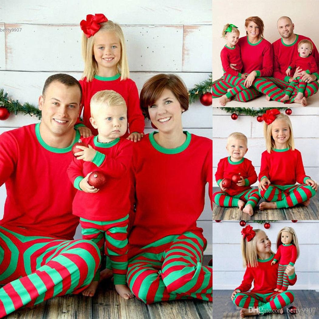 2016 christmas xmas family matching outfits kids adult
