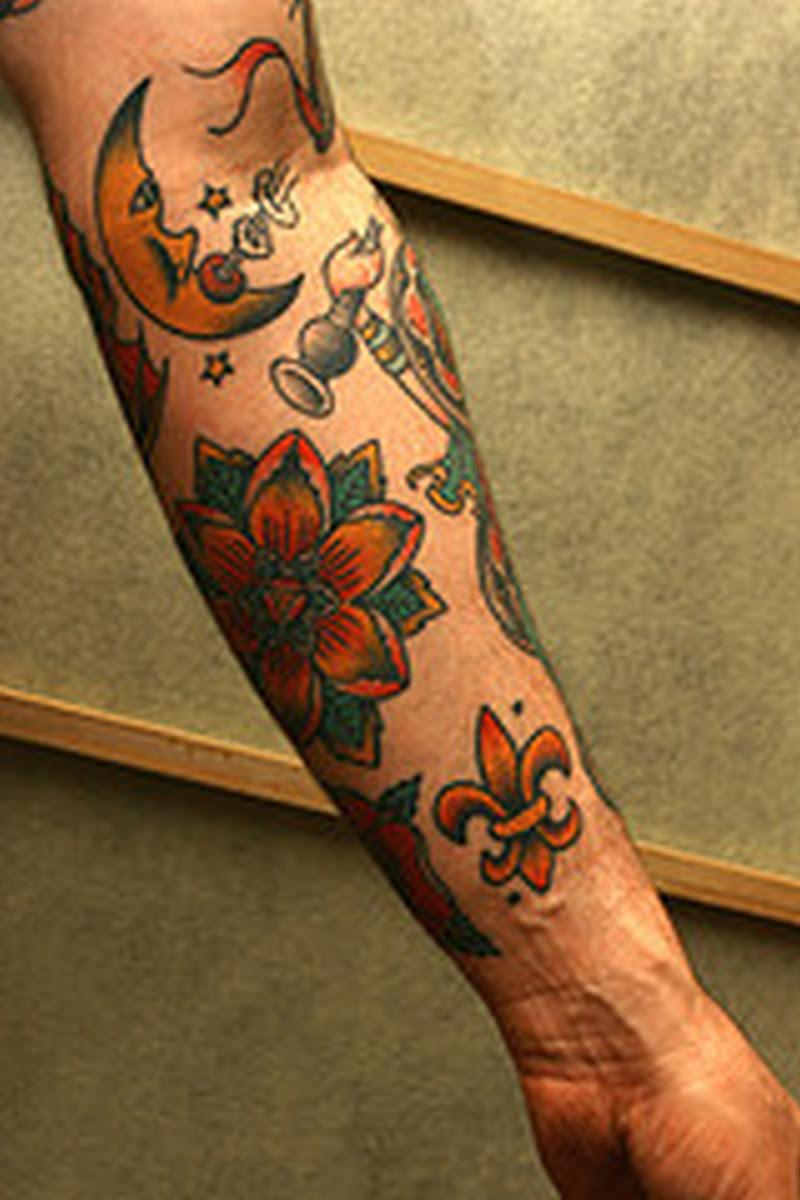 Colorful Fleur De Lis Tattoo On Wrist Tattoos Book 65000