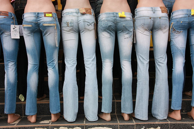Mannequin with jeans