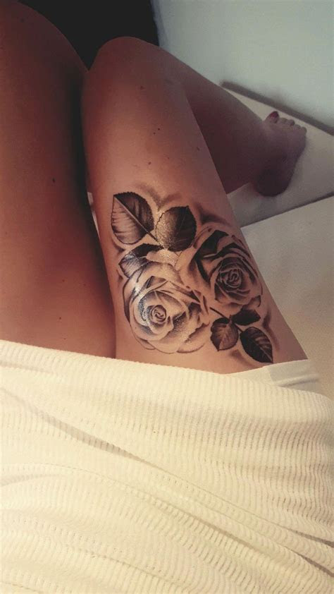 roses thigh tattoo sleevetattoos thigh tattoos women