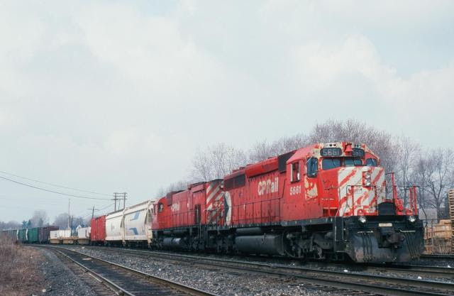 CP 5661 in London Ontario. Slide by David T Stowe