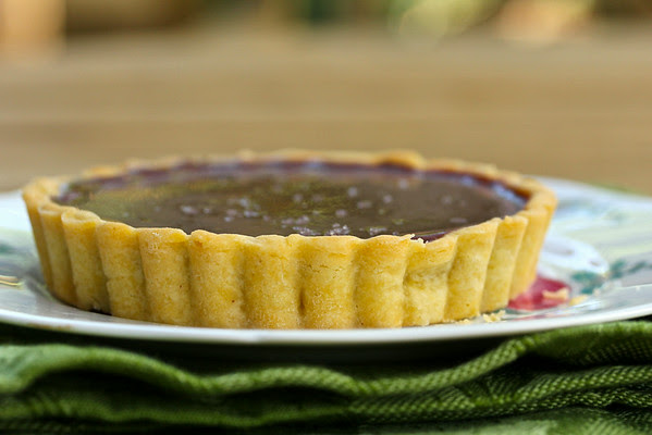 Salted Chocolate Caramel Tartlets from Karen's Kitchen Stories