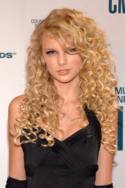 beauty evolution  taylor swift  curly haired