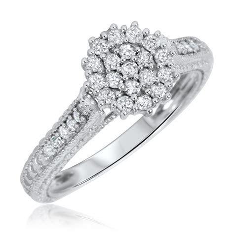 1/2 Carat T.W. Diamond Women's Engagement Ring 14K White