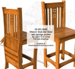 Mission style Bar Stool Woodworking Plan - fee plans from WoodworkersWorkshop® Online Store - bar stools,seating,Mission style,solid wood furniture,mortise and tenons joints,drawings,plans,woodworkers projects,workshop blueprints
