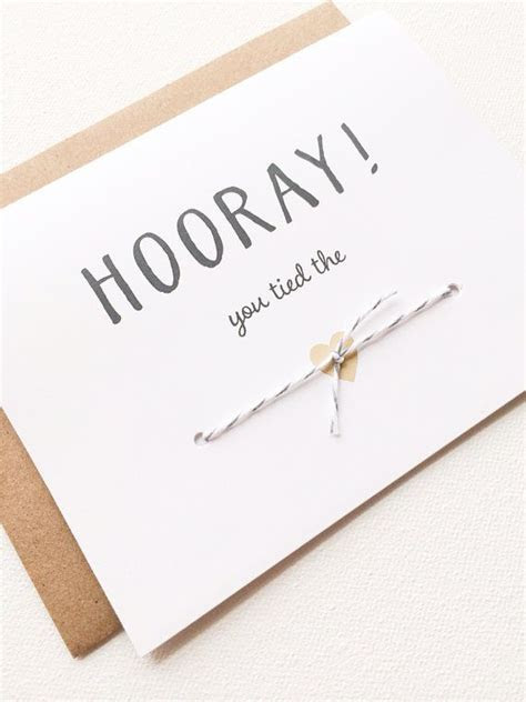 Wedding Couple Card Congratulations Tied The Knot Card for