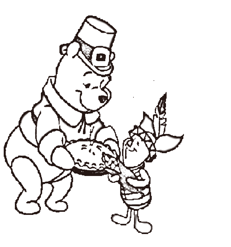 Free Printable Coloring Pages For Kids Thanksgiving Drawing With Crayons