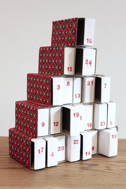 Zündholzschachtel Weihnachtsbaum Adventskalender