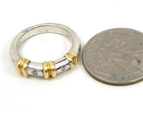 Ladies 14k Two Tone Diamonds Wedding Band   Bright Jewelers