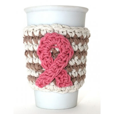 Breast Cancer Awareness Cup Cozy
