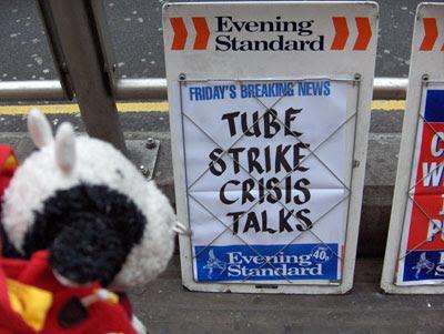 Tube Strike! Aieeee!