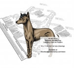 Peruvian Hairless Dog Scrollsaw Intarsia Woodworking Pattern - fee plans from WoodworkersWorkshop® Online Store - Peruvian Hairless Dog,pets,animals,dog breeds,yard art,painting wood crafts,scrollsawing patterns,drawings,plywood,plywoodworking plans,woodworkers projects,workshop blueprints