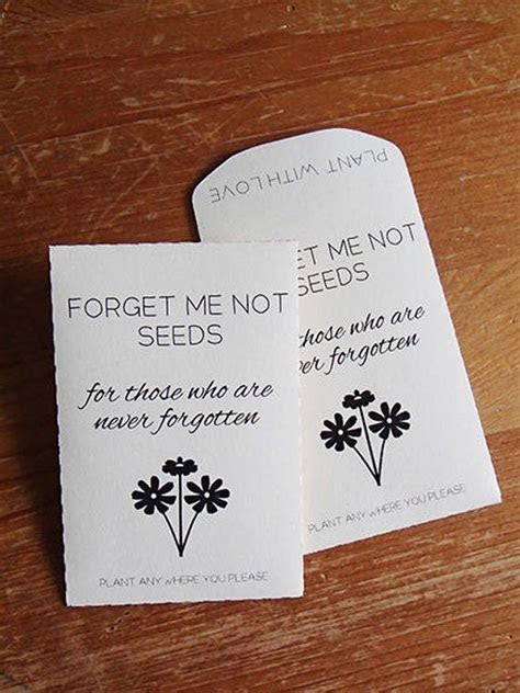 PRINTABLE, Seed Packet, Custom, Wedding Favour, Forget Me