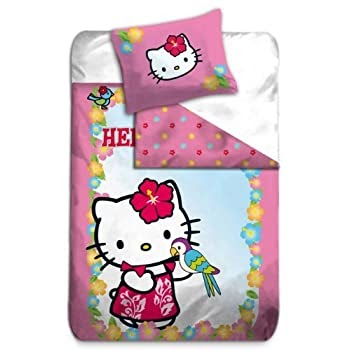 pas cher parure de lit housse de couette avec rabat enfant fille taie d oreiller hello kitty. Black Bedroom Furniture Sets. Home Design Ideas