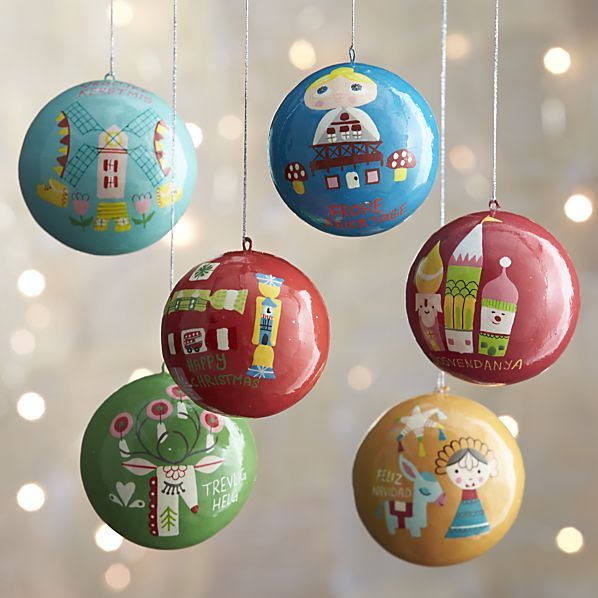 http://www.crateandbarrel.com/set-of-6-around-the-world-ornaments/s259527