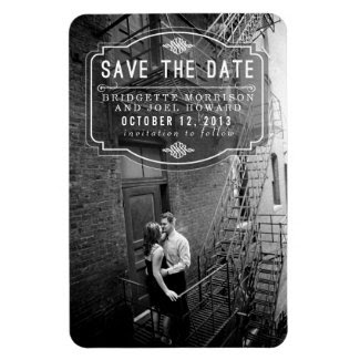 Jeune Amour Vintage Save the Date Magnet Magnet