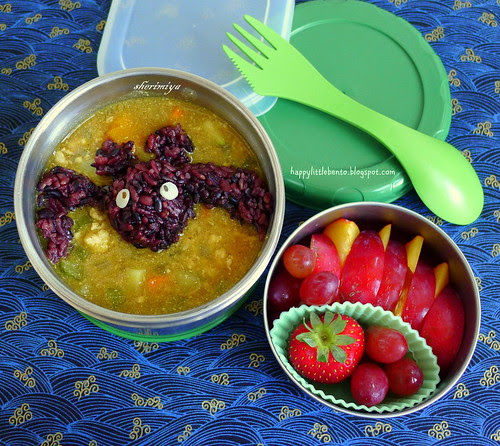 Bat in the Curry Halloween LunchBot Thermal Bento by sherimiya ♥