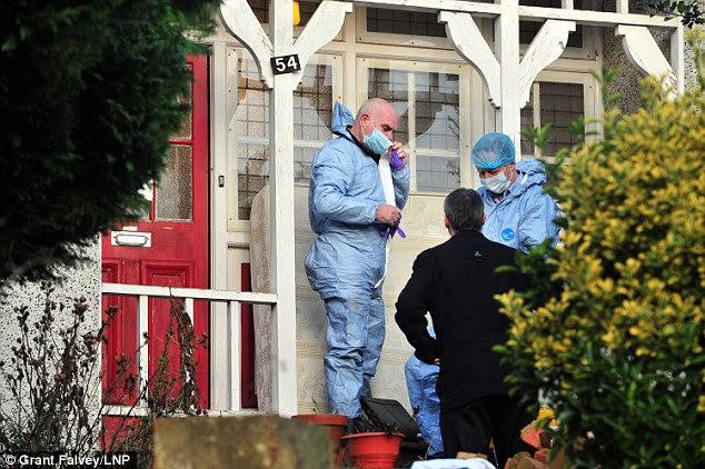Forensics: The Metropolitan Police said officers were conducting searches of the family home as part of their investigation earlier today