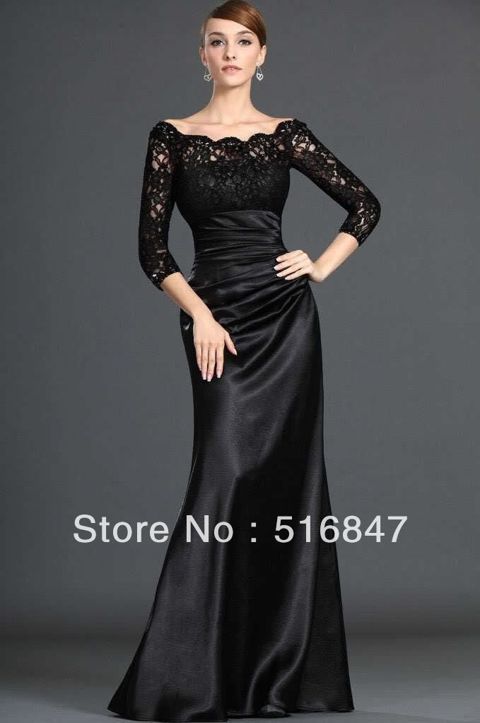Black dress evening wear