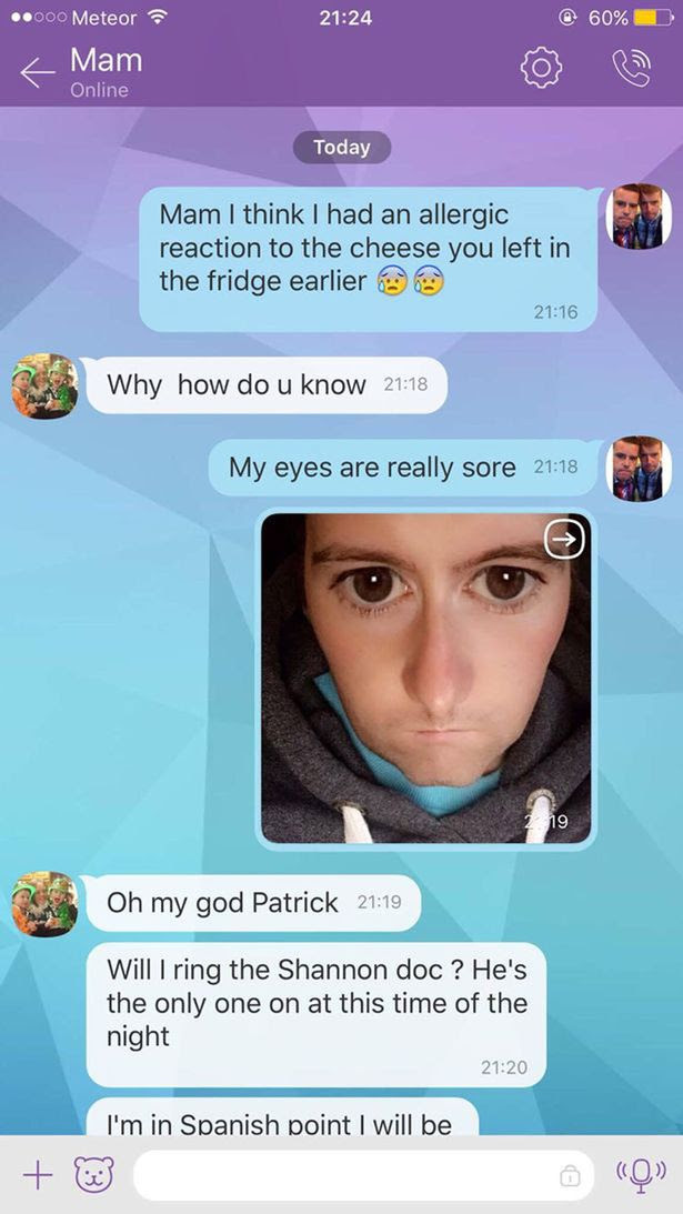 Irish mom worries about her son after seeing snapchat picture