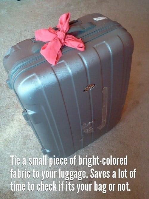 83 tie a small piece of bright colored fabric