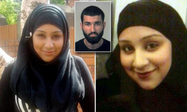 Aras Hussein, 21, inset, attacked Reema Ramzan, 18, right and left, with the blade while she was still alive before stabbing himself in the chest in his flat in Sheffield. After the attack, he was seen by a neighbour, naked, holding a wad of money and a passport, and covered in blood. The killer admitted manslaughter on the grounds of diminished responsibility to denied murder. However, he was found guilty at Sheffield Crown Court and was sentenced yesterday to life in prison, with a minimum of 20 years