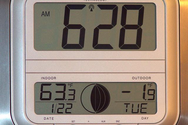 Clock temperature minus 2 20130122