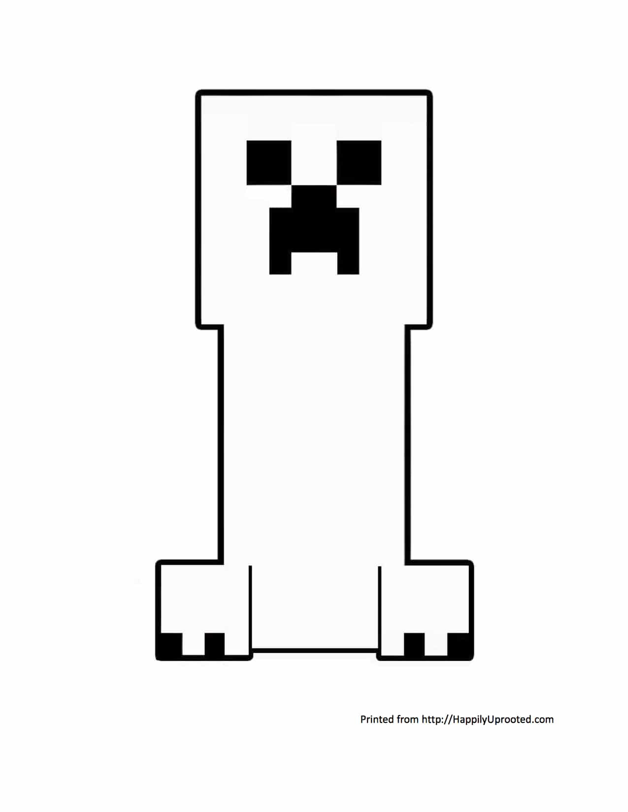 Coloring Pages For Kids Minecraft Creeper Drawing With Crayons