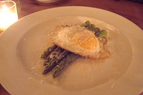 Asparagus with Fried Duck Egg and Parmesan