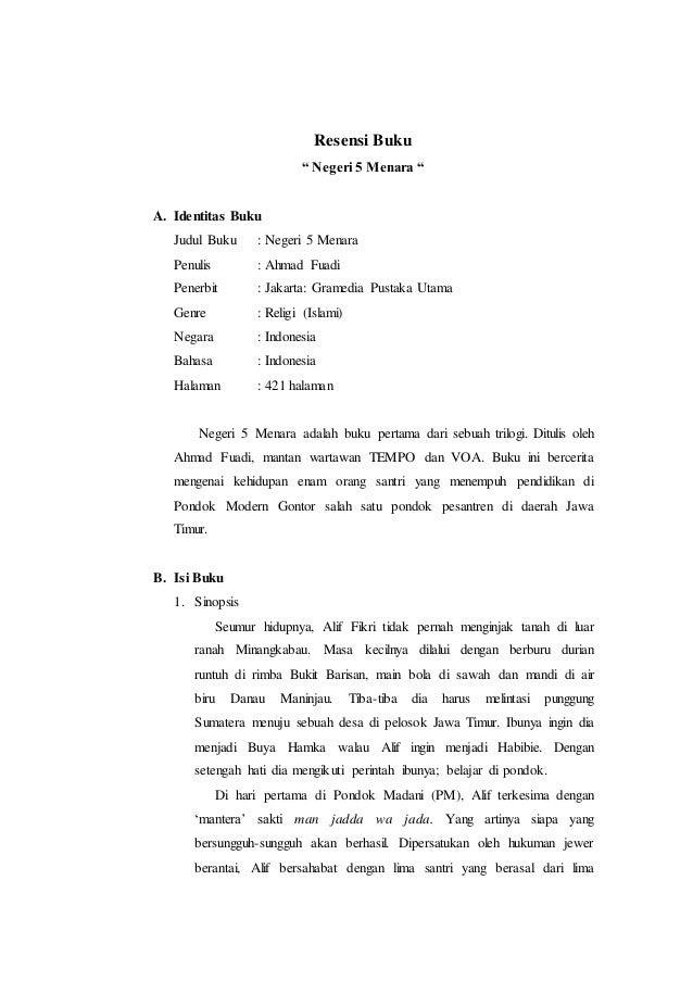 Contoh Resensi Novel Contoh 84